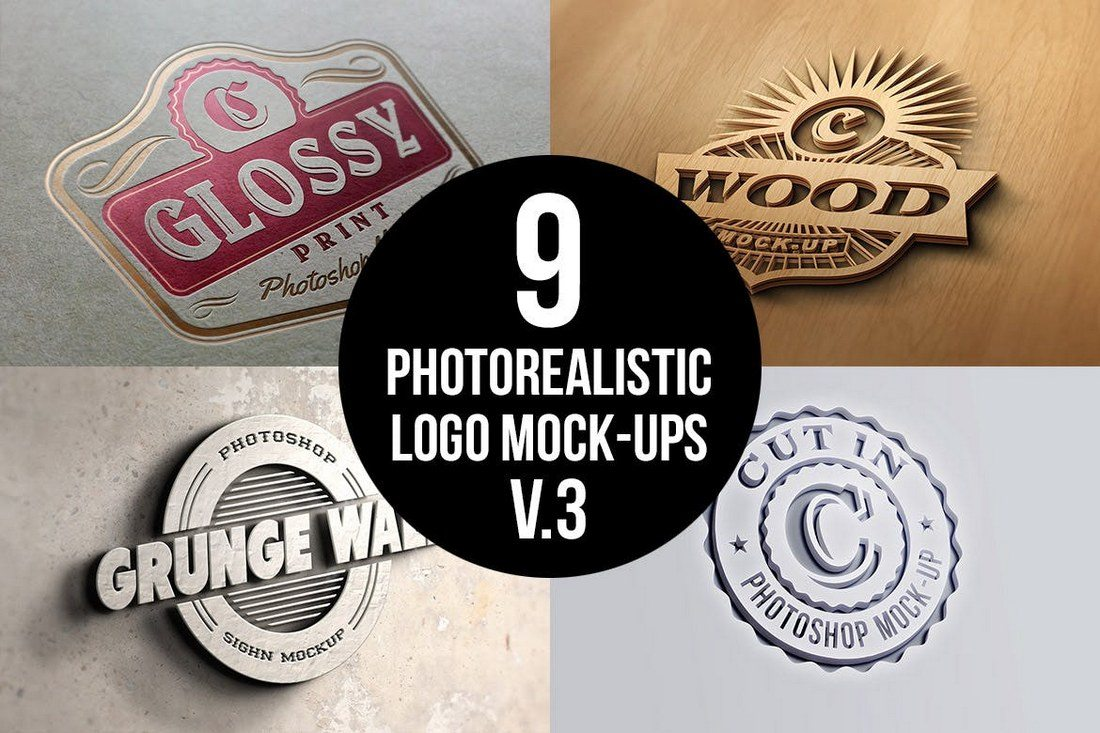 20+ Best 3D Logo Mockup Templates   Healthcare Web Design and ...