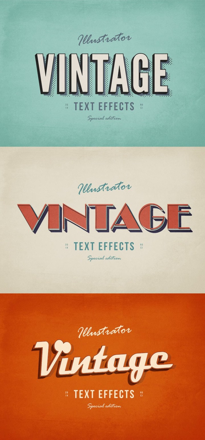 3 Illustrator text effects