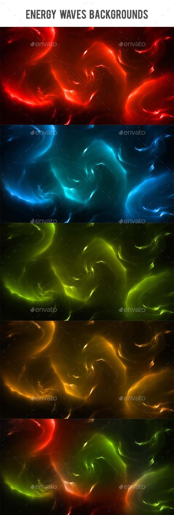 Energy Waves Backgrounds