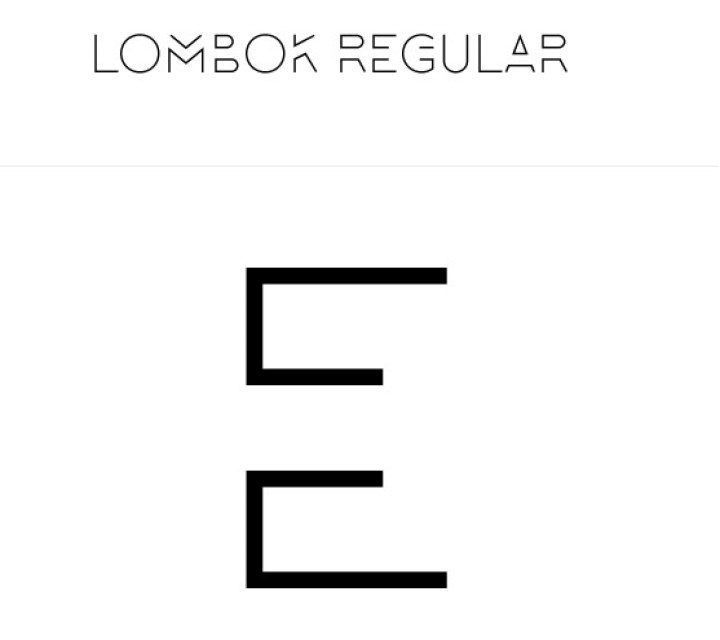 Lombok typeface