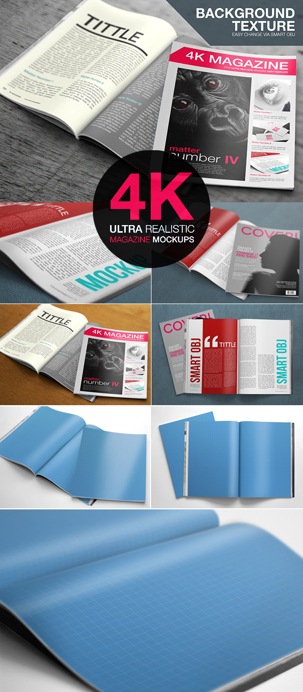 06_Ultra Realistic Free PSD Magazine Mockups