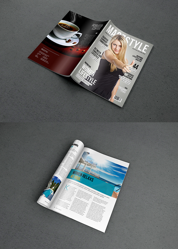 19_Photorealistic Magazine MockUp PSD