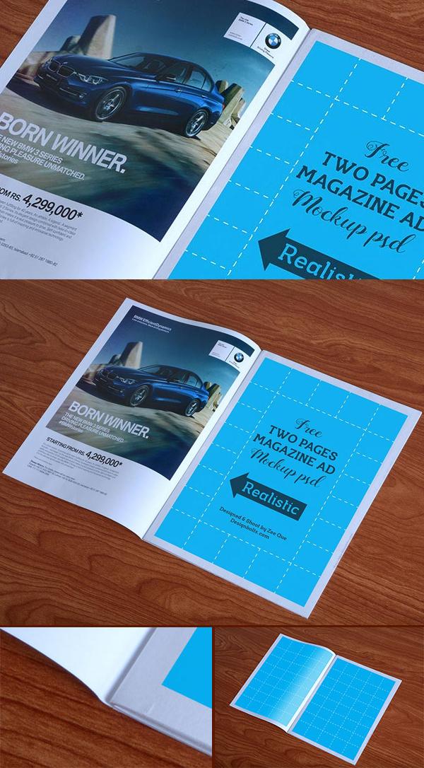 04 Free Magazine Ad Mockup PSD