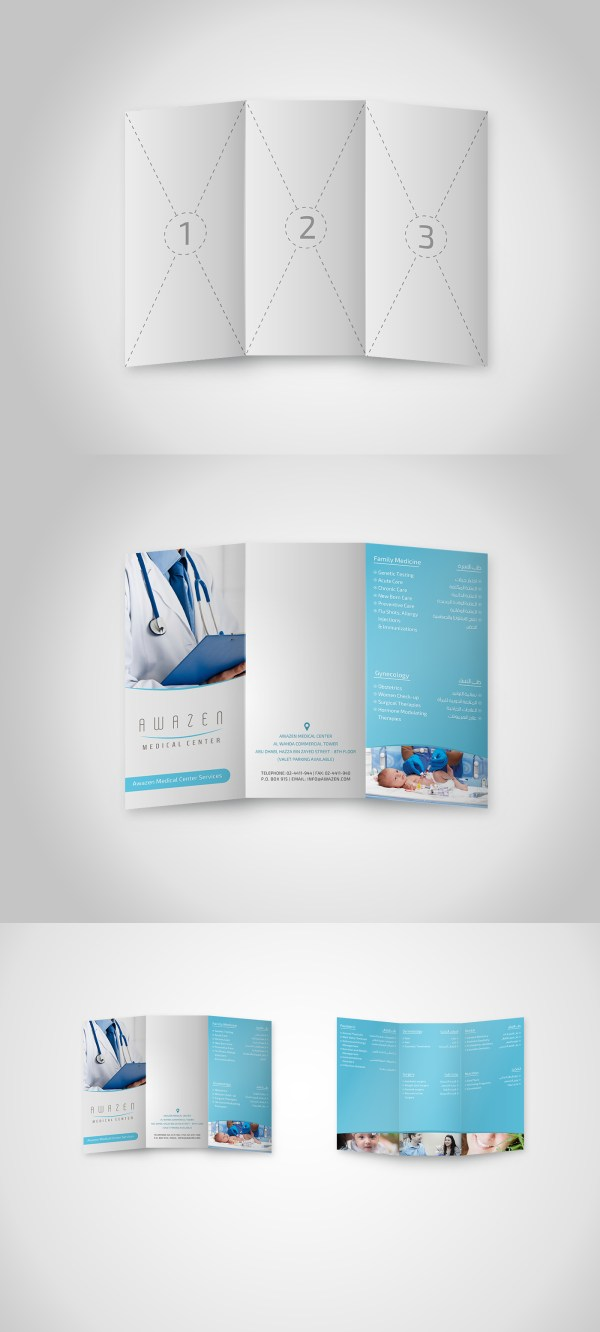 06 Free A4 Trifold Brochure Mockup