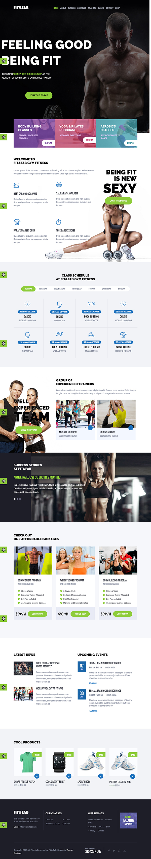 07 Fit & Fab - Aerobic, Gym and Fitness WordPress Theme