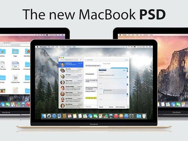 07 Macbook 2015 mockup set