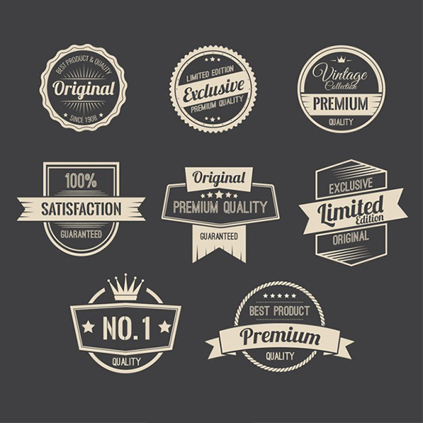 12 Free Retro promotion badges