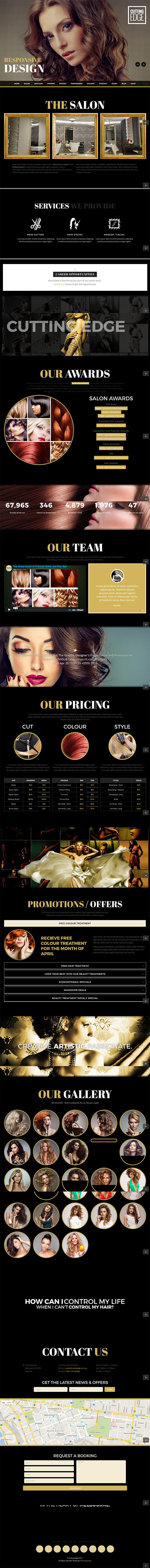 15 Cutting Edge - Spa Hair Salon WooCommerce WP Theme
