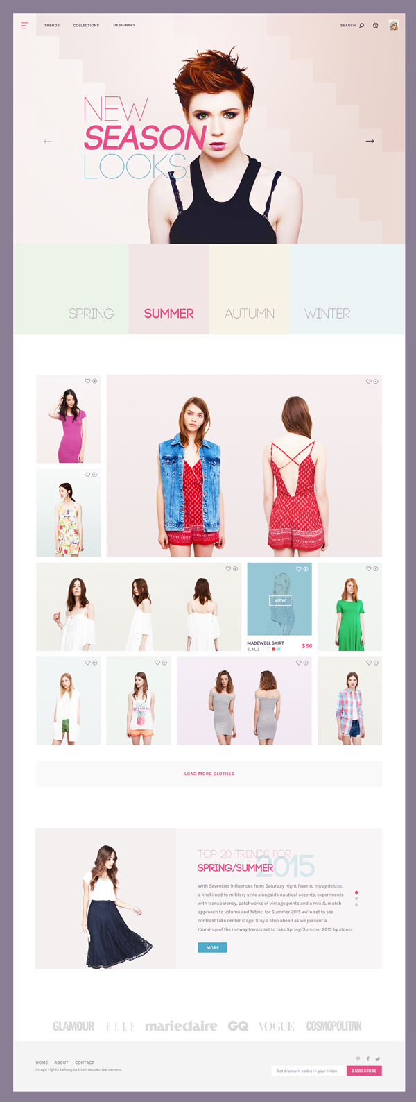 21 Fashion Store Concept PSD Template