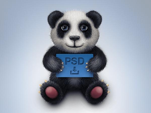 22 Free Toy Panda Icon Freebie PSD