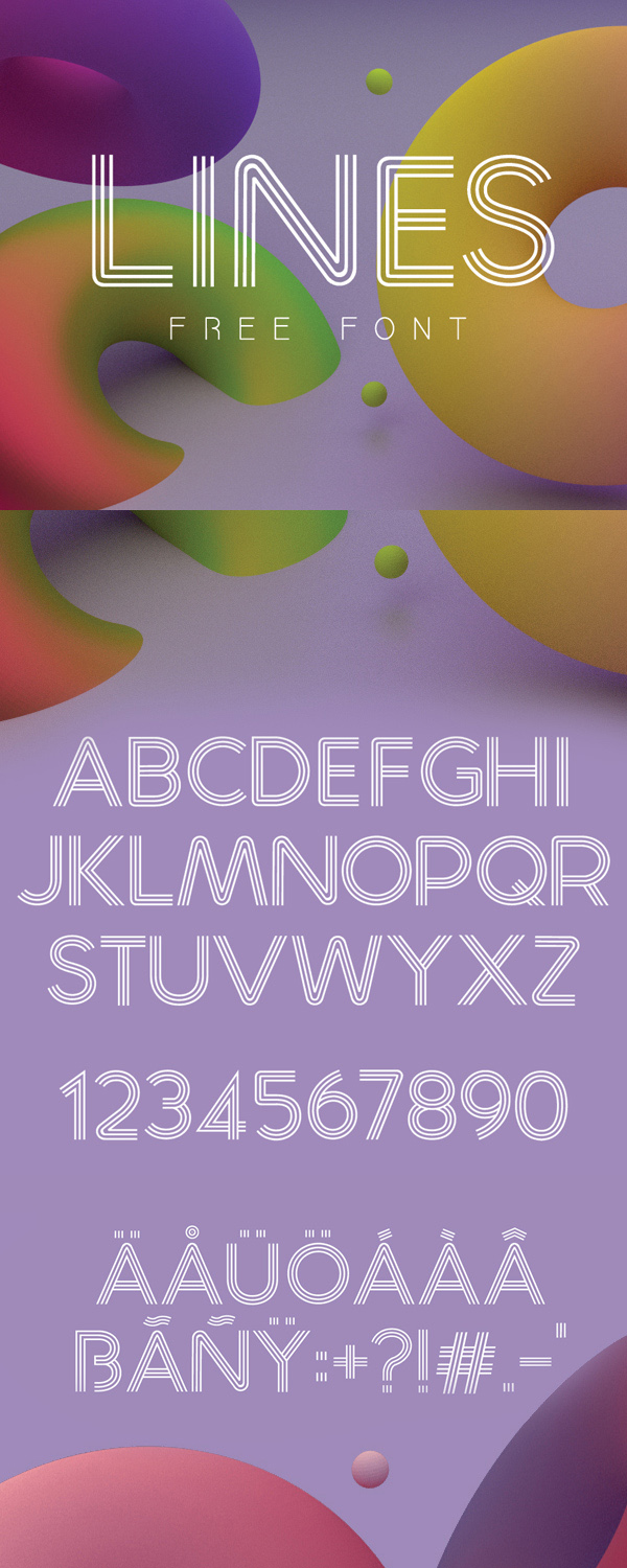 24 Lines Free Font