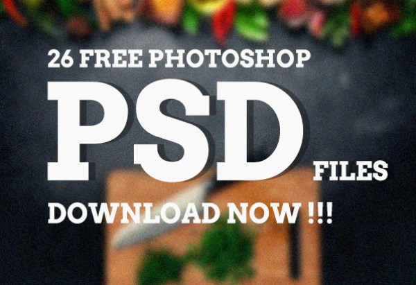 todays featured download includes a set of 26 free goods photoshop psd files they are all fully scaleable vector shapes flat vector icons web buttons - Free Photoshop Templates