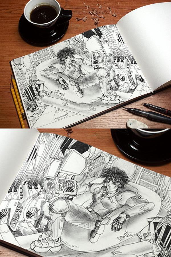 03 Art Book MockUp PSD