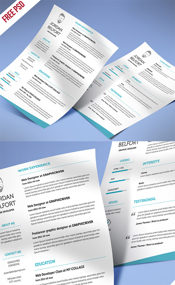 03 Freebie Minimal And Clean Resume
