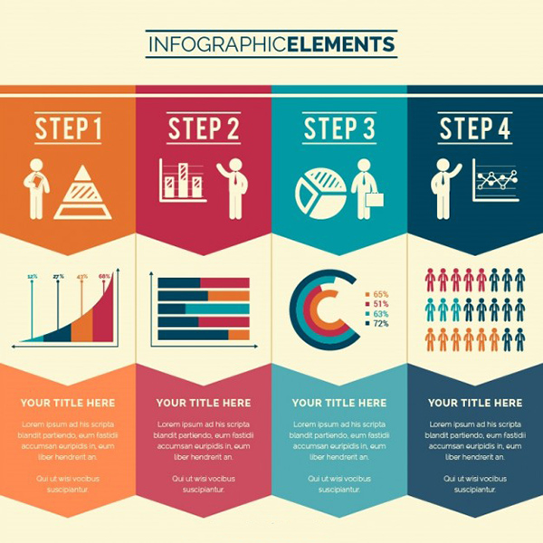 04 Business steps infographic
