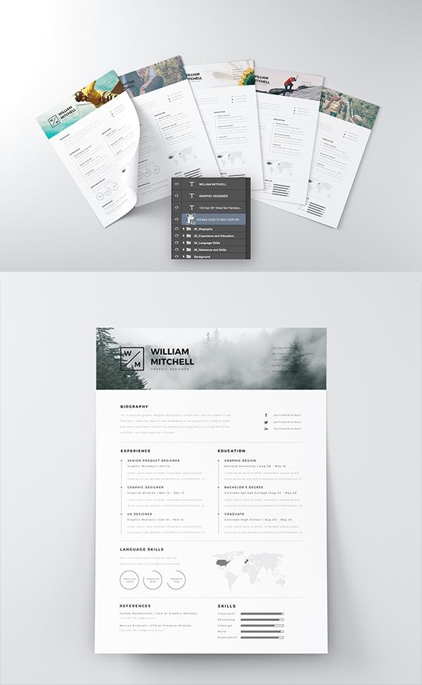 07 Free Minimalistic & Clean Resume