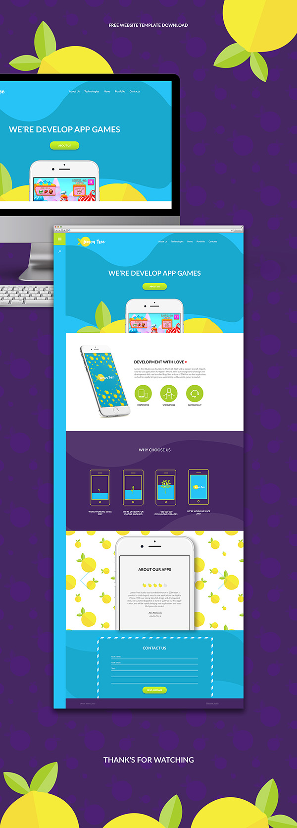 07 website template download