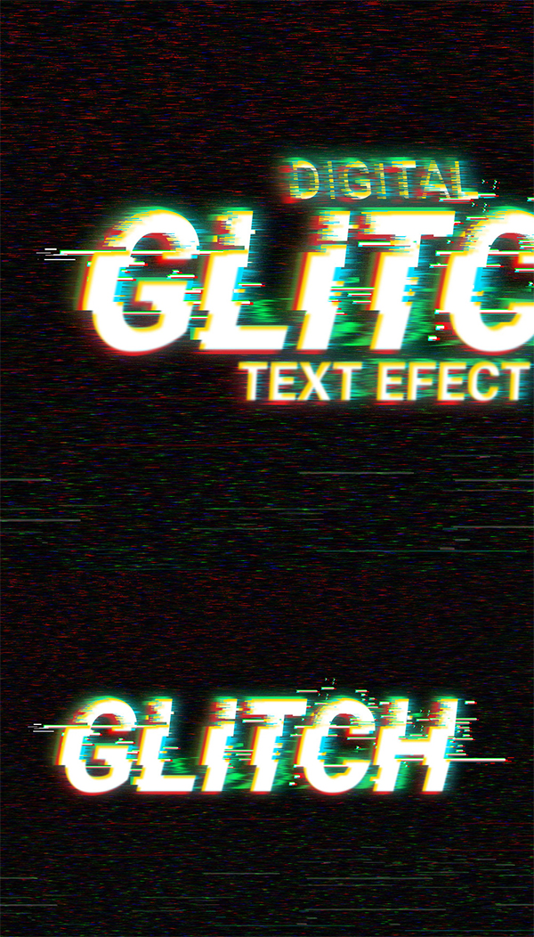 09 Digital Glitch Text Effect