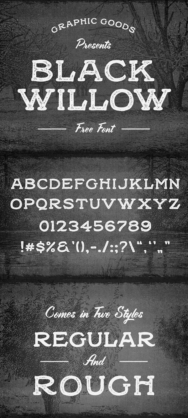 10 Black Willow Free Font
