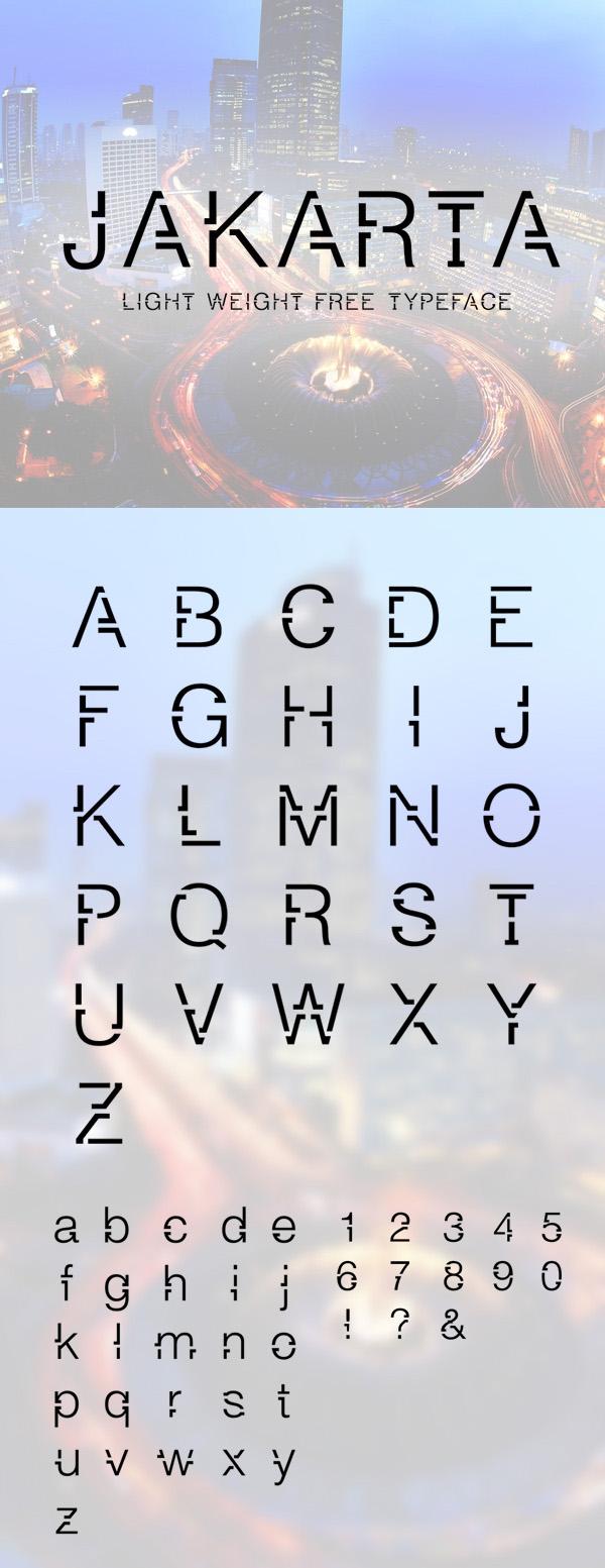 11 Jakarta Free Font