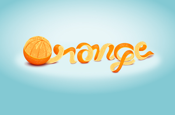 12 Learn to create an Orange Text Effect