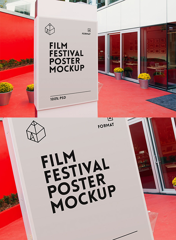 14 Free Film Festival Poster Mockup