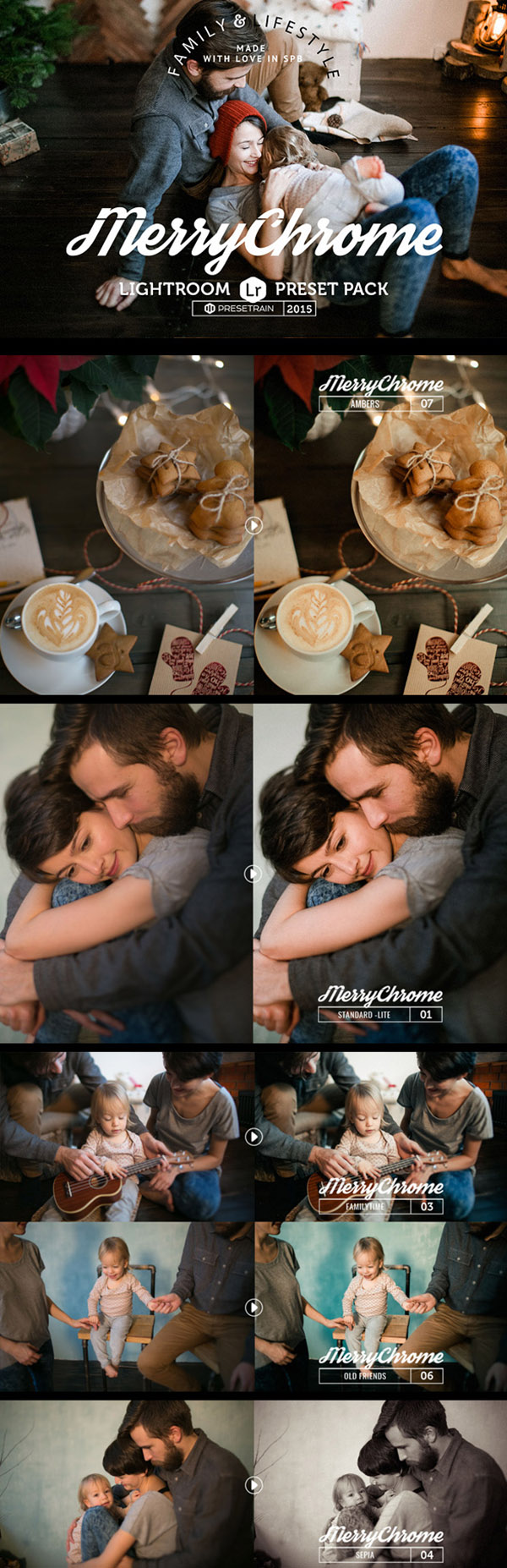 14 Merrychrome Lightroom Preset Pack