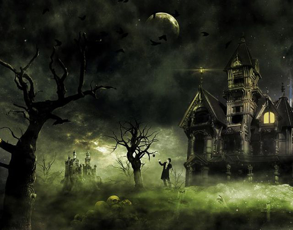 16 Create This Eerie Haunted House Scene for Halloween