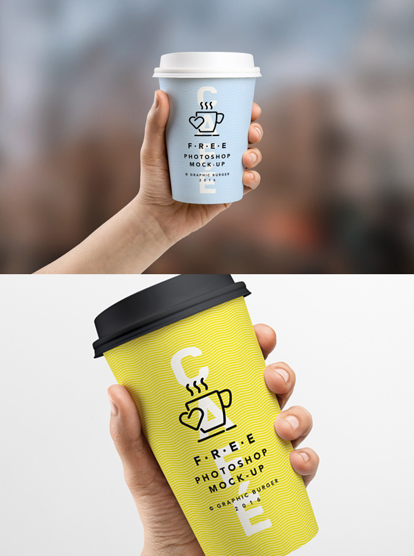 19 Coffee Cup In Hand MockUp Free PSD