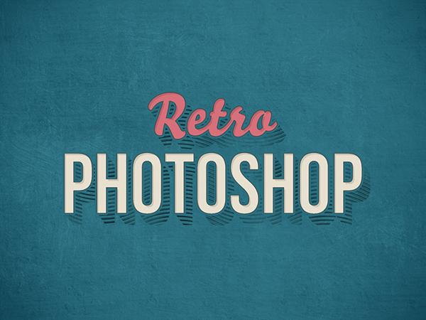 19 Retro Photoshop Text Effect