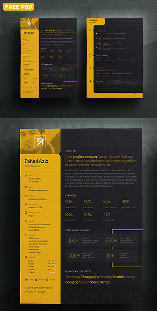 20 My Personal Resume PSD