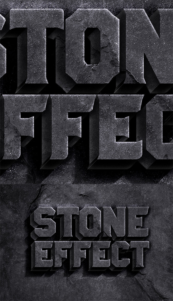 24 Stone Text Effect PSD