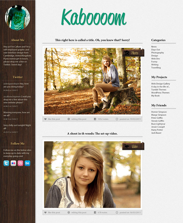 04 Design a forest inspired Tumblr theme in Photoshop