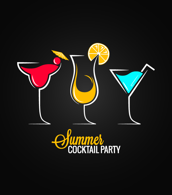 04 Summer Cocktail Party Vector Graphics