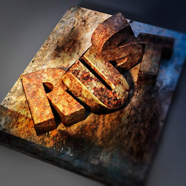 06 How to Create a Rusted Metal Text Effect in Adobe Photoshop