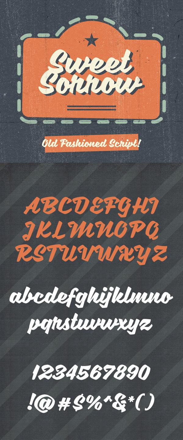 06 Sweet Sorrow Free Font