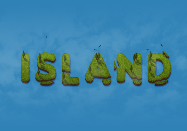 10 Create an Island Text Effect in Adobe Photoshop
