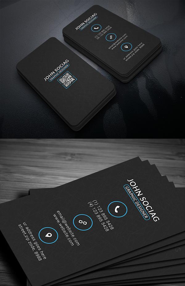 11 Black Metro Business Card