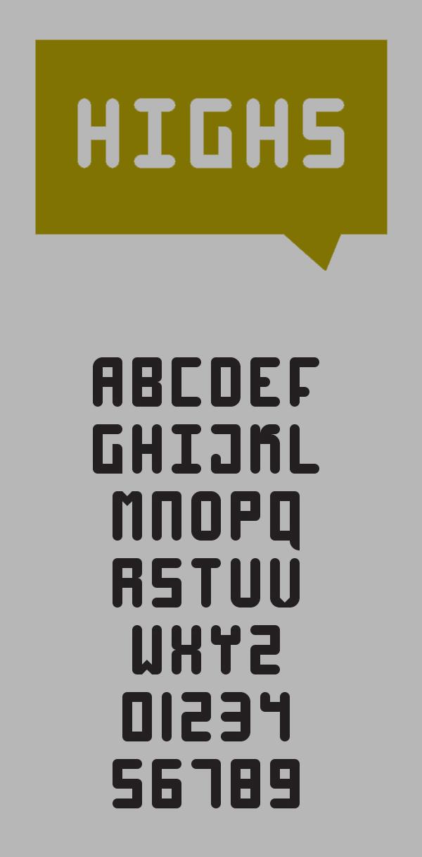 11 High 4 Free Font