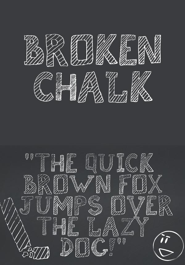 12 Broken Chalk Free Font