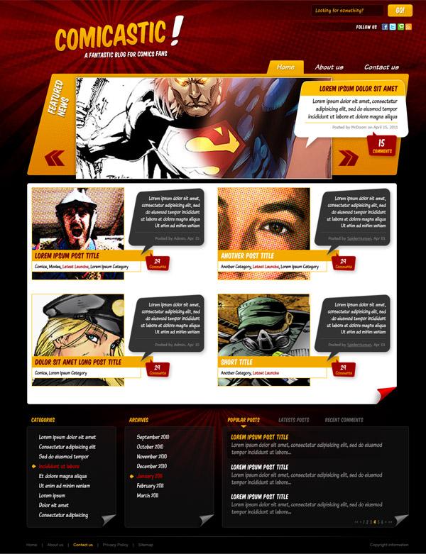13 Create a Comic Book Themed Web Design, Photoshop