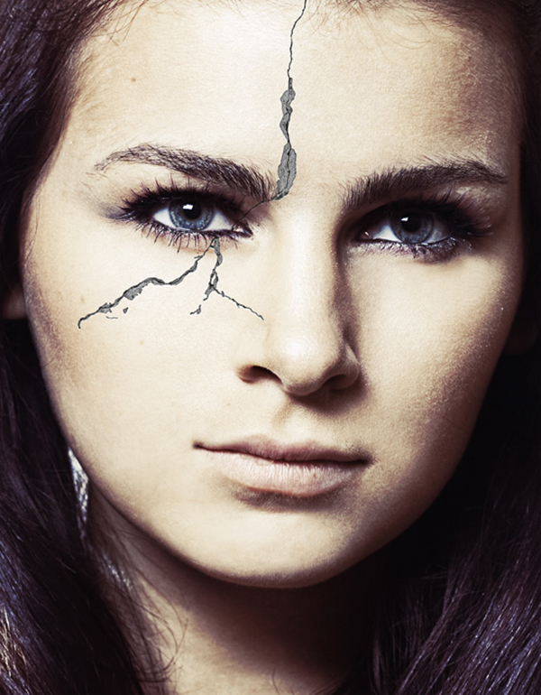 13 How to Create a Realistic Crack Effect on a Face