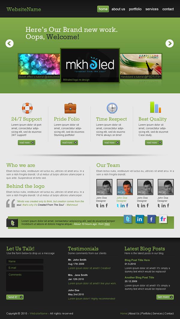 15 Create a Professional Web 2.0 Layout