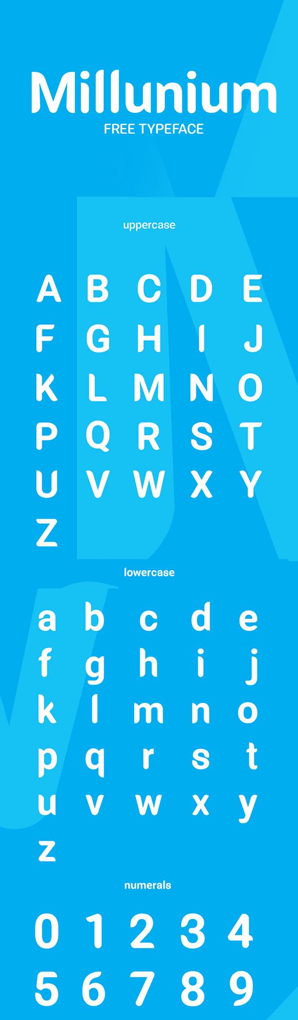 18 Millunium Free Font