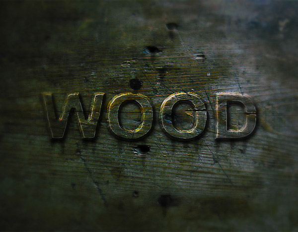 22 Create a Wood Text effect in Photoshop
