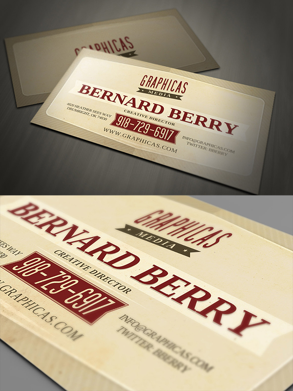 24 Retro Business Card Template