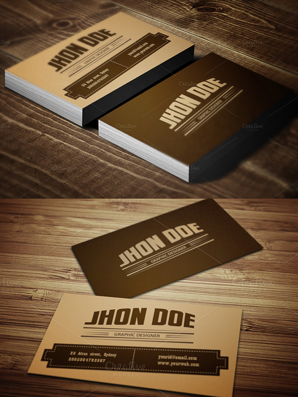 25 Retro Style Business Card Template