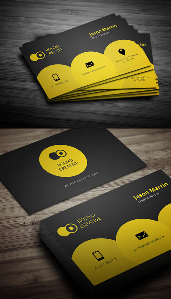26 Creative Yellow Business Card