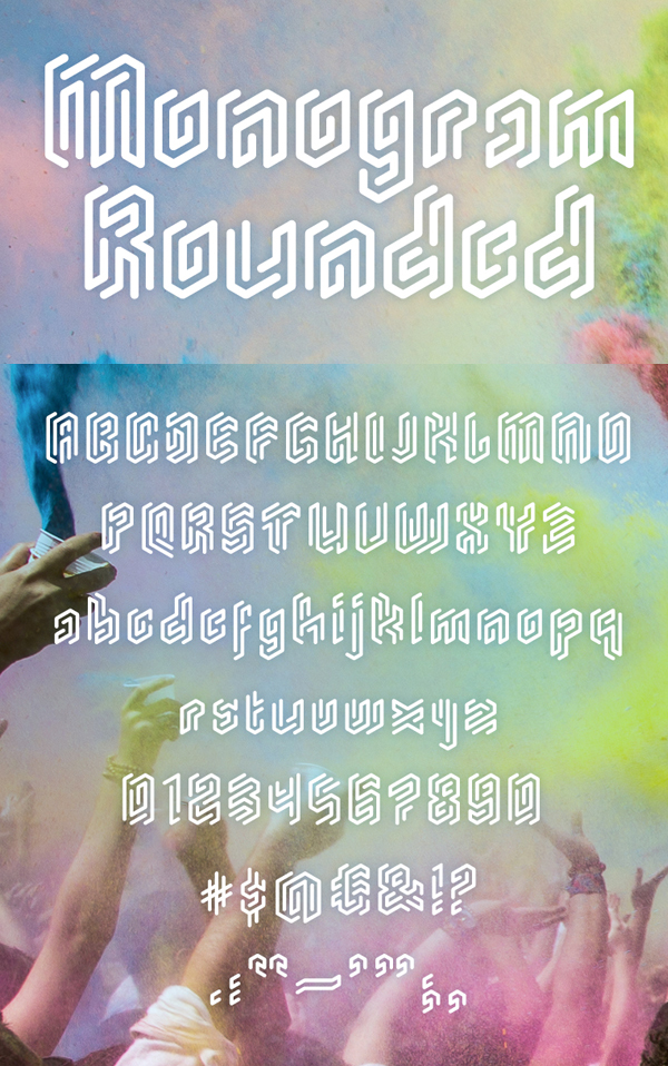 26 Monogram Rounded Free Font