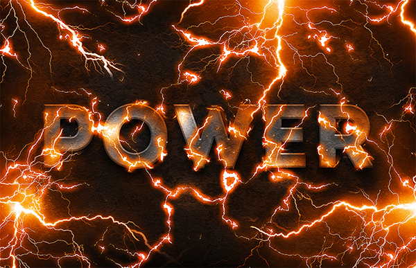 04 Electric Lightning Text Effect In Photoshop